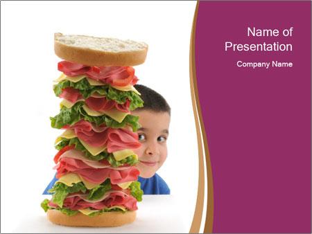 Big sandwich PowerPoint Template