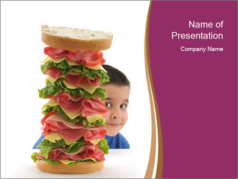 Big sandwich PowerPoint Template