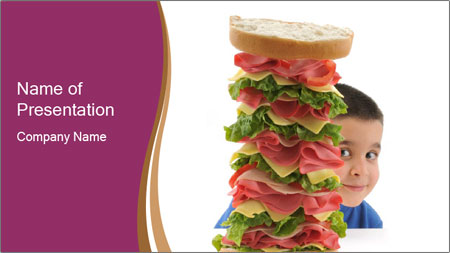 Big sandwich PowerPoint Template - Slide 1