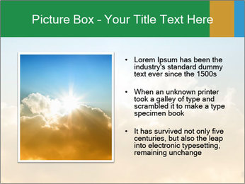 The sun and gold clouds PowerPoint Template - Slide 13