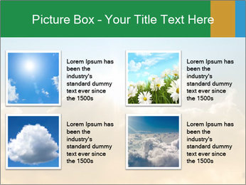 The sun and gold clouds PowerPoint Template - Slide 14
