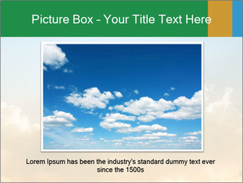 The sun and gold clouds PowerPoint Template - Slide 15