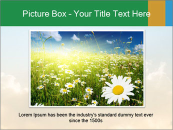 The sun and gold clouds PowerPoint Template - Slide 16