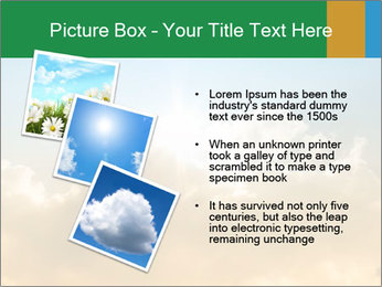 The sun and gold clouds PowerPoint Template - Slide 17