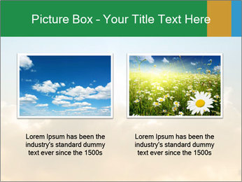 The sun and gold clouds PowerPoint Template - Slide 18