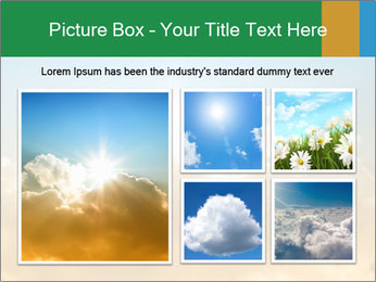 The sun and gold clouds PowerPoint Template - Slide 19