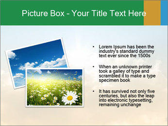 The sun and gold clouds PowerPoint Template - Slide 20