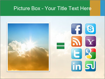 The sun and gold clouds PowerPoint Template - Slide 21