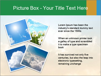 The sun and gold clouds PowerPoint Template - Slide 23