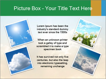 The sun and gold clouds PowerPoint Template - Slide 24