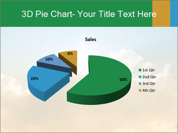 The sun and gold clouds PowerPoint Template - Slide 35