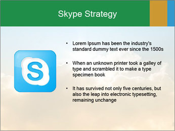The sun and gold clouds PowerPoint Template - Slide 8