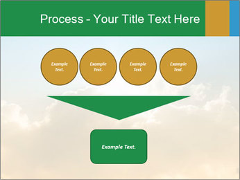 The sun and gold clouds PowerPoint Template - Slide 93