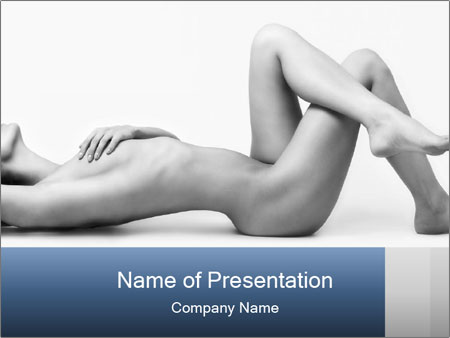 Naked beautiful woman PowerPoint Templates