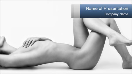 Naked beautiful woman PowerPoint Template