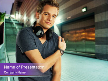 Stylish man PowerPoint Template