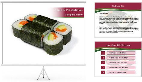 Sushi maki PowerPoint Template