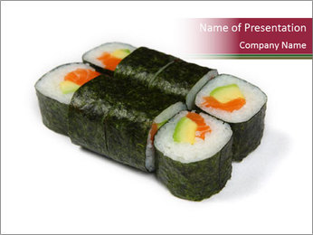 Sushi maki PowerPoint Template - Slide 1