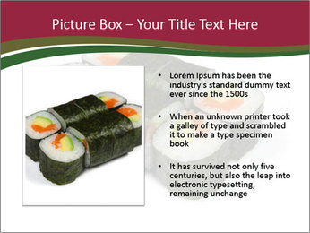 Sushi maki PowerPoint Template - Slide 13
