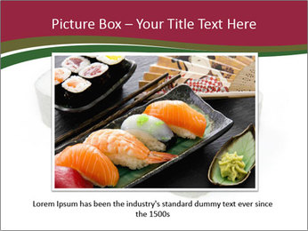 Sushi maki PowerPoint Template - Slide 16