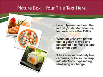 Sushi maki PowerPoint Template - Slide 17