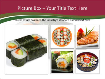 Sushi maki PowerPoint Template - Slide 19