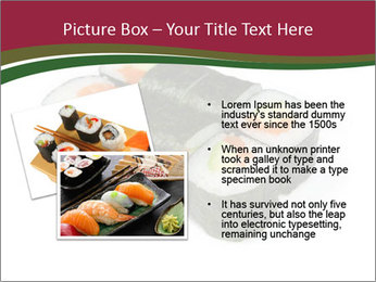 Sushi maki PowerPoint Template - Slide 20