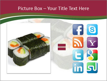 Sushi maki PowerPoint Template - Slide 21