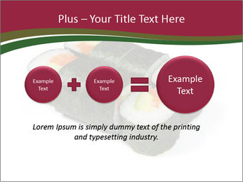 Sushi maki PowerPoint Template - Slide 75