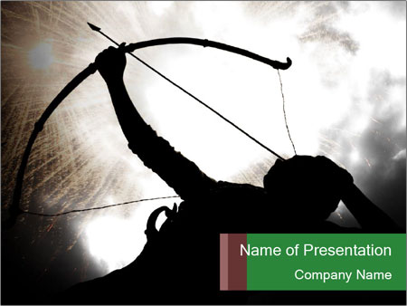 A silhouette PowerPoint Template