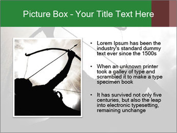 A silhouette PowerPoint Template - Slide 13