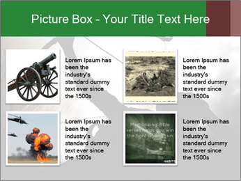 A silhouette PowerPoint Template - Slide 14