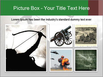 A silhouette PowerPoint Template - Slide 19