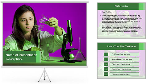 Girl playing PowerPoint Template