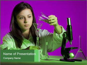 Girl playing PowerPoint Template - Slide 1