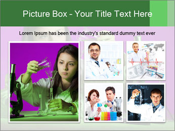Girl playing PowerPoint Template - Slide 19