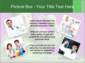 Girl playing PowerPoint Template - Slide 24