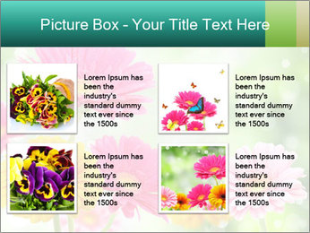 Colored flowers PowerPoint Template - Slide 14