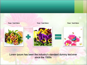Colored flowers PowerPoint Template - Slide 22