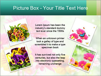 Colored flowers PowerPoint Template - Slide 24