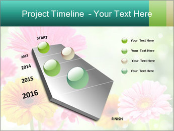 Colored flowers PowerPoint Template - Slide 26
