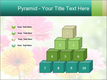 Colored flowers PowerPoint Template - Slide 31