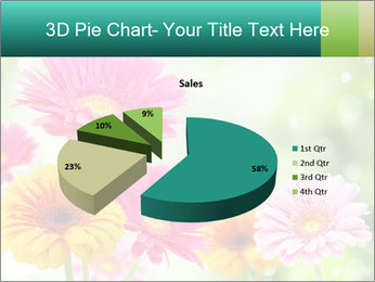 Colored flowers PowerPoint Template - Slide 35