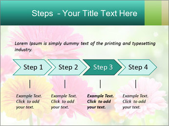 Colored flowers PowerPoint Template - Slide 4