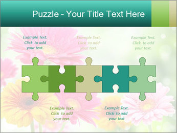 Colored flowers PowerPoint Template - Slide 41