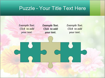 Colored flowers PowerPoint Template - Slide 42