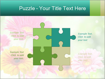 Colored flowers PowerPoint Template - Slide 43