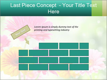 Colored flowers PowerPoint Template - Slide 46