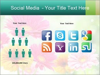 Colored flowers PowerPoint Template - Slide 5