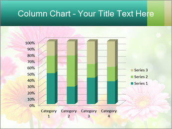 Colored flowers PowerPoint Template - Slide 50